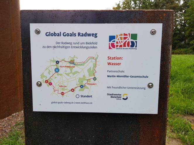 Global Goals Radweg in Bielefeld